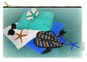 Beachy Things - Aqua Blue Carry-all Pouch