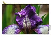 Beaded Iris Carry-all Pouch