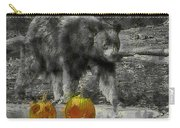 Bear And Pumpkins Carry-all Pouch