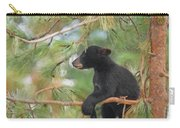 Bear Cub In Tree 2 Carry-all Pouch