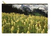 Bear Grass At Mt. Rainier - V Carry-all Pouch