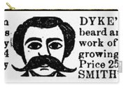 Beard Elixir Ad, 1889 Carry-all Pouch