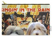 Bearded Collie Art Canvas Print - Singin In The Rain Movie Poster Carry-all Pouch