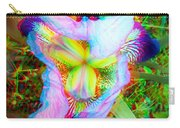 Bearded Iris Cultivar - Use Red-cyan 3d Glasses Carry-all Pouch