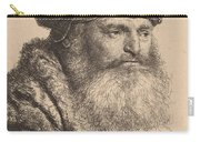 Bearded Man In A Velvet Cap With A Jewel Clasp Carry-all Pouch
