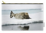 Bearded Seal On Ice Floe Norway Carry-all Pouch