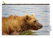 Bear's Eye View Of Swimming Grizzly In Moraine River In Katmai Carry-all Pouch