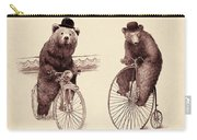 Bears On Bicycles Carry-all Pouch by Eric Fan