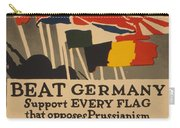Beat Germany Carry-all Pouch by Adolph Treidler