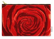 Beautiful Abstract Red Rose Illustration Carry-all Pouch