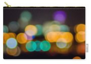 Beautiful Background On Dark Out Of Focus Lights During The Nig Carry-all Pouch