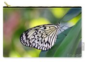 Beautiful Black N White Rice Paper Butterfly Carry-all Pouch