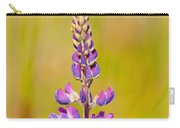 Beautiful Blooming Lupine Flower In Warm Sunlight Carry-all Pouch