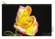 Beautiful Blooming Yellow Rose Carry-all Pouch