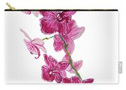 Beautiful Burgundy Orchid Flower Original Floral Painting Pink Orchid I By Megan Duncanson Madart Carry-all Pouch