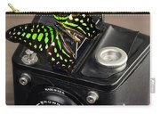 Beautiful Butterfly On A Kodak Brownie Camera Carry-all Pouch