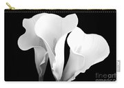 Beautiful Calla Lilies In Black And White Carry-all Pouch