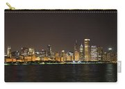 Beautiful Chicago Skyline With Fireworks Carry-all Pouch by Adam Romanowicz