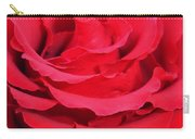 Beautiful Close Up Of Red Rose Petals  Carry-all Pouch