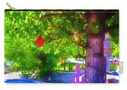 Beautiful Colored Glass Ball Hanging On Tree 1 Carry-all Pouch