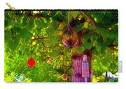 Beautiful Colored Glass Ball Hanging On Tree 2 Carry-all Pouch