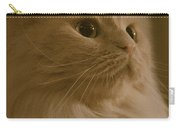 Beautiful Creamy Persian Cat Mix Portrait Carry-all Pouch