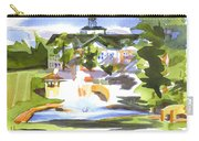 Beautiful Day At The Baptist Home Of The Ozarks In Watercolor Carry-all Pouch by Kip DeVore
