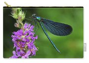 Beautiful Demoiselle Male Switzerland Carry-all Pouch by Thomas Marent