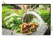 Beautiful Flowers In Basket Carry-all Pouch