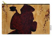 Beautiful Geisha Coffee Painting Carry-all Pouch