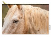 Beautiful Gray Horse Portrait Carry-all Pouch