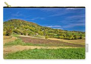 Beautiful Green Hill With Vineyard Cottages Carry-all Pouch