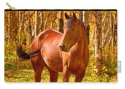 Beautiful Horse In The Autumn Aspen Colors Carry-all Pouch by James BO  Insogna