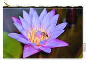 Beautiful Lily And Visiting Bee Carry-all Pouch