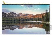 Beautiful Mountain Reflection Carry-all Pouch by Robert Bales