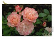 Beautiful Peach Roses Carry-all Pouch