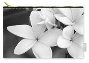Beautiful Plumeria In Black And White Carry-all Pouch