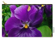 Beautiful Purple Pansies Carry-all Pouch