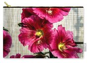 Beautiful Red Hollyhock Carry-all Pouch by Robert Bales