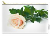 Beautiful Rose On White Carry-all Pouch