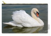 Beautiful Silky Swan Carry-all Pouch