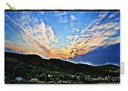 Beautiful Sky Over The Harbour Digital Painting Carry-all Pouch