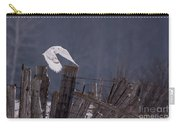 Beautiful Snowy Owl Flying Carry-all Pouch