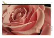 Beautiful Peach Rose Carry-all Pouch