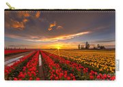 Beautiful Tulip Field Sunset Carry-all Pouch