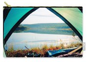 Beautiful View Of Calm Lake Looking Out Of Tent Carry-all Pouch