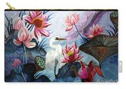 Beauty Of The Lake Hand Embroidery Carry-all Pouch