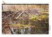 Beaver Dam In Fall Colored Forest Wetland Swamp Carry-all Pouch