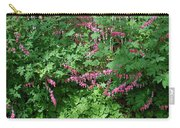Bed Of Bleeding Hearts Carry-all Pouch