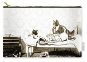 Bed Time For Kitty Cats Histrica Photo Circa 1900 Carry-all Pouch